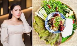 Ca sĩ Kiwi Ngô Mai Trang chia sẻ cách nấu bún giả cầy với thịt mềm ngon, da giòn thấm đều gia vị