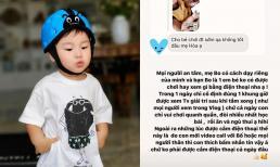 Bị nhắc nhở khi cho bé Bo dùng điện thoại sớm, Hoà Minzy lập tức đáp trả hợp tình hợp lý