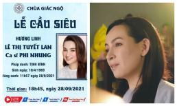 Sư thầy và phật tử tự tổ chức Lễ tưởng niệm và cầu siêu cho nữ ca sĩ Phi Nhung
