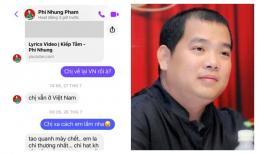 Nhạc sĩ Minh Khang rùng mình đọc lại tin nhắn báo hiệu điềm gở của Phi Nhung gửi cho mình