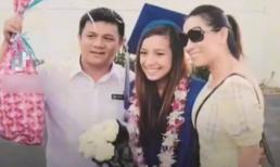Khung ảnh hiếm hoi Phi Nhung và bố ruột Wendy trong ngày lễ tốt nghiệp của con gái