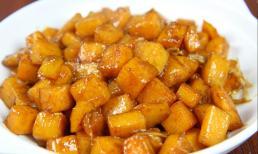 Một củ khoai lang, một củ gừng, đầu bếp dạy bạn làm món khoai lang gừng, giòn bên ngoài, dẻo và ngọt ngon bên trong