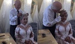 Clip cụ ông tỉ mỉ chải tóc giúp vợ để chụp ảnh kỷ niệm 50 năm ngày cưới khiến dân mạng 'tan chảy'