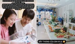 Vợ chồng Phan Thành tổ chức tiệc đầy tháng chuẩn rich kid cho con, tiết lộ thời điểm đi sinh đặc biệt
