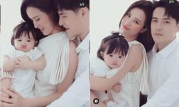 Đông Nhi tung loạt ảnh gia đình trước thềm sinh nhật con gái: Lộ rõ tướng phu thê với Ông Cao Thắng, Winnie xinh như búp bê