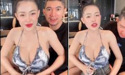 Ngân 98 quên kéo khóa quần khi đang livestream, Lương Bằng Quang nhanh tay có phản ứng