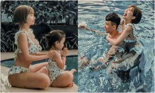 Vợ 2 Minh Nhựa khoe ảnh gia đình hạnh phúc, thân hình nóng bỏng của Mina Phạm mới là tâm điểm chú ý