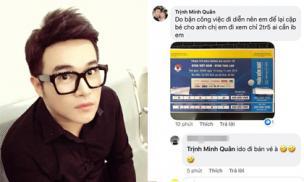 Ca sĩ Minh Quân bị kẻ xấu giả danh để bán vé xem bóng đá trận Việt Nam - Thái Lan