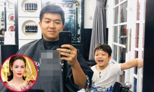 Sau tranh cãi 'nảy lửa', chồng cũ Nhật Kim Anh đăng ảnh đời thường vui vẻ bên 'cậu ấm'