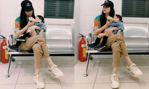 Con sốt 40 độ, mẹ bỉm sữa Trà Ngọc Hằng kể chuyện đưa bé đi bệnh viện nhưng lại chưa mở cửa