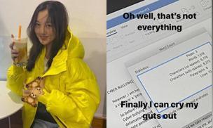 Đáp trả tin đồn ăn chơi vô độ, con gái của Vương Phi khoe ảnh làm luận văn hơn nghìn chữ