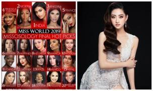 Missosology tung BXH cuối cùng trước thềm chung kết Miss World, bất ngờ với thứ hạng của Lương Thùy Linh