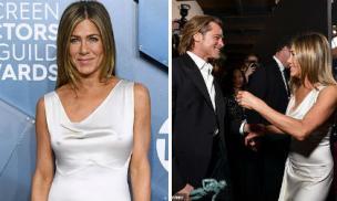 Muốn chọc tức Angelina Jolie, Jennifer Aniston táo bạo mặc đầm không nội y quấn quýt bên Brad Pitt