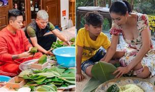 Tết thời 4.0 cái gì cũng có, nhưng nhiều sao Việt vẫn kỳ công gói và nấu bánh chưng tại nhà