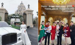 Không khí đón Tết bên trong lâu đài 7 tầng của nhà cô dâu đeo vàng trĩu cổ ở Nam Định