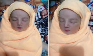 Vừa mới chào đời, bé gái được khen ngợi hết lời vì xinh như thiên thần