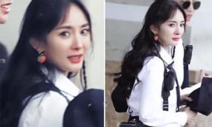 Bị chỉ trích bỏ mặc con gái, Dương Mịch vẫn giữ thần thái xinh đẹp và sang chảnh khi ghi hình