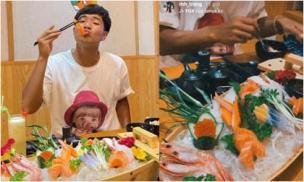 Ngay sau khi lập cú đúp, Hà Đức Chinh hẹn hò gái xinh bằng bữa ăn sang chảnh