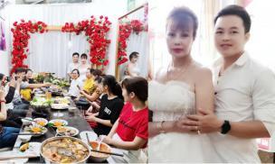 'Cô dâu 62 tuổi' Thu Sao diện váy cưới, đón khách trong lễ kỷ niệm 2 năm ngày về chung nhà