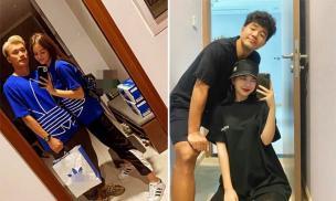 Không thua kém Bùi Tiến Dũng, Hà Đức Chinh cũng diện áo đôi cực đẹp bên bạn gái