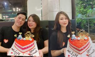 Cầu thủ Đình Trọng tổ chức sinh nhật ấm áp cho bạn gái