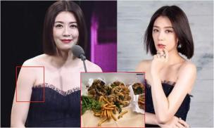 'Võ Mị Nương' Giả Tịnh Văn đeo trang sức 'khủng' nhưng không đi thảm đỏ mà 'trốn' sau hậu trường ăn gà rán