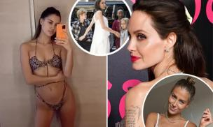 Sau khi bị Angelina Jolie 'dằn mặt', bạn gái Brad Pitt đáp trả bằng hình ảnh bikini nóng bỏng mắt
