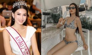 Ít ngày sau đăng quang, Á hậu 2 Nguyễn Lê Ngọc Thảo đã có màn khoe dáng đỉnh cao với bikini