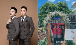 Đám cưới đồng tính nam gây sốt mạng xã hội vì cả hai đều sở hữu ngoại hình 'soái ca'