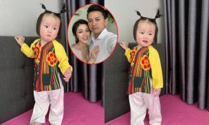 Loạt ảnh đáng yêu và bụ bẫm của con gái Bào Ngư 1 tuổi nhà Quách Ngọc Tuyên