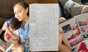 Mớ 5 tuổi, con trai Thu Minh đã biết đọc truyện và làm toán thành thạo của bé 10 tuổi