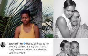 Obama tổ chức sinh nhật lần thứ 57 cho vợ, khoe ảnh đẹp của Michelle khi còn trẻ, khoe mối quan hệ 'mật ngọt' giữa vợ chồng