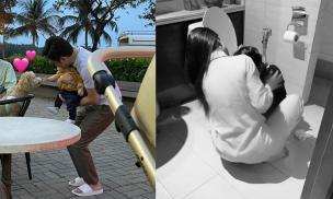 Sao Việt 21/1/2021: Cường Đô la bế con gái chơi cùng chú cún cực yêu; Trà Ngọc Hằng thức suốt đêm chăm con ốm