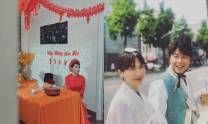 Lộ ảnh Hòa Minzy mặc áo dài đỏ, fan tưởng làm đám cưới nhưng hóa ra là thế này