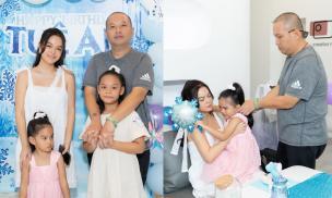 Phạm Quỳnh Anh tái hợp chồng cũ Quang Huy trong tiệc sinh nhật của con gái thứ 2