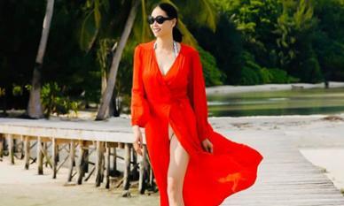 Hoa hậu Hà Kiều Anh khoe vóc dáng tuổi 43 đẹp 'mướt mắt' ở đảo nhiệt đới Palau