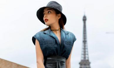 Hoa hậu Kỳ Duyên diện cây hàng hiệu sang chảnh khi đi dạo ở Pháp
