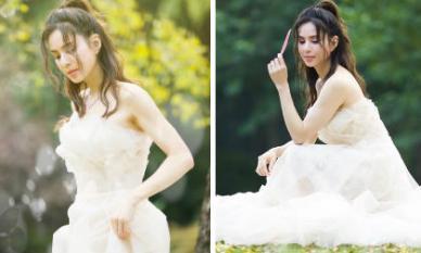 """Chẳng cần có chú rể, """"Tiểu Long Nữ"""" Lý Nhược Đồng khoác váy cô dâu đẹp lung linh ở tuổi 46"""