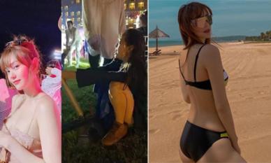 Sau khi xõa hết mình ở đám cưới Đông Nhi, Minh Hằng khoe dáng chuẩn với bikini