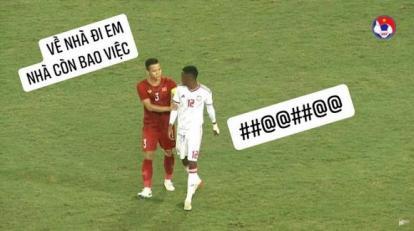 Quế Ngọc Hải được dân mạng chế ảnh hài hước vì hành động fair-play với tuyển thủ UAE