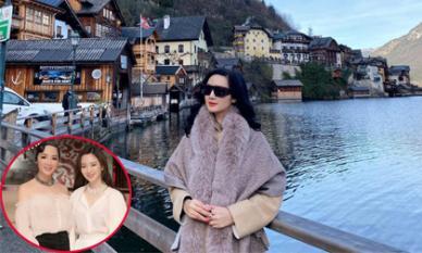 Đi du lịch ở Áo, Hoa hậu Đền Hùng Giáng My khoe nhan sắc trẻ trung không kém con gái