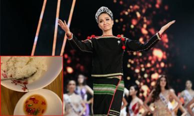 Bữa cơm đạm bạc của Hoa hậu H'Hen Niê trong ngày đầu tiên chuyển đến nhà mới
