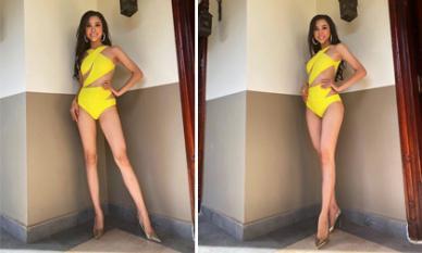 Thuý An diện bikini bốc lửa, đọ dáng cùng dàn thí sinh tại Hoa hậu Liên lục địa