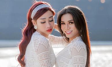 BB Trần cùng Hải Triều diện áo dài trắng nền nã như nữ sinh chính hiệu