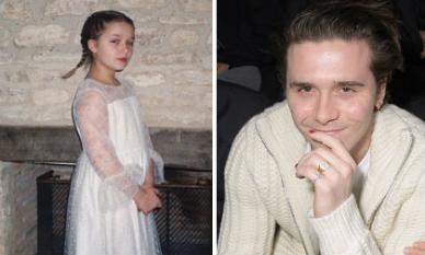 """Con gái út nhà Becks như cô dâu nhí, cậu cả gây sốc với chi tiết """"nữ tính"""" đến lạ"""