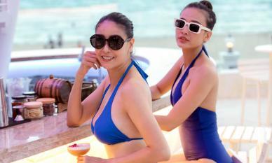 Hoa hậu Hà Kiều Anh khoe body mướt mắt, đọ dáng cùng Dương Mỹ Linh với bikini