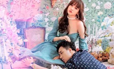 Hari Won diện váy gợi cảm chụp ảnh siêu ngọt ngào bên ông xã Trấn Thành