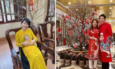Sao Việt diện áo dài đi chúc Tết ngày Mùng 1