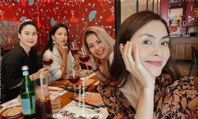 Lâu lắm mới thấy hội bạn showbiz của Hà Tăng tụ hội: Nhan sắc mẹ bỉm sữa toàn cực phẩm