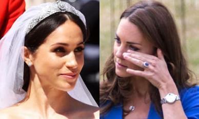 Kate từng rơi nước mắt vì Meghan trong đám cưới hai năm trước chỉ bởi chiếc quần tất, Hoàng gia Anh chính thức lên tiếng